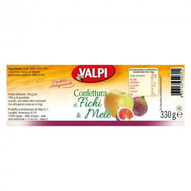 Confettura di mele e fichi etichetta